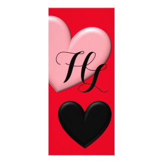 Customizable Puffy Hearts Customized Rack Card