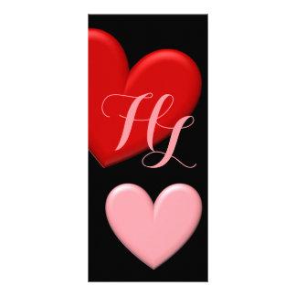 Customizable Puffy Hearts Full Colour Rack Card