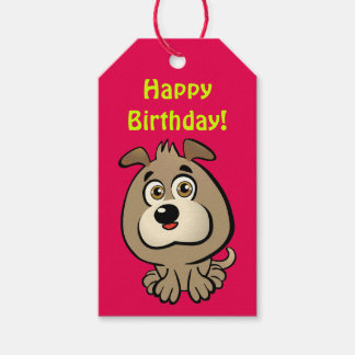 Customizable Puppy Cartoon Gift Tags