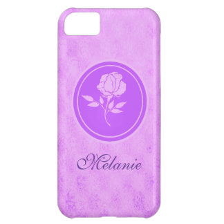 Customizable purple rose Iphone 5s case Case For iPhone 5C