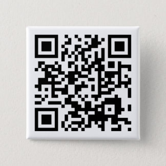 customizable QR code 15 Cm Square Badge