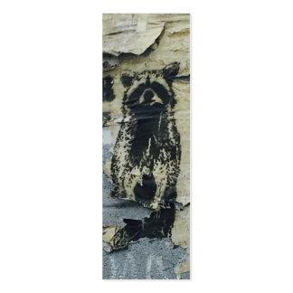 CUSTOMIZABLE Raccoon Urban Street Art Graffiti Pack Of Skinny Business Cards