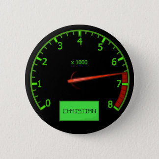 Customizable Racing car throttle name buttons