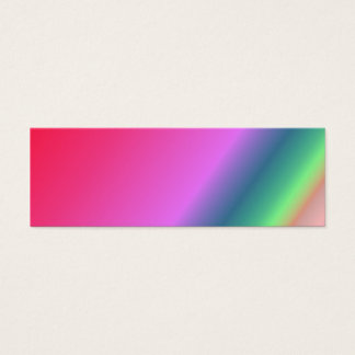Customizable Rainbow Bookmark Mini Business Card