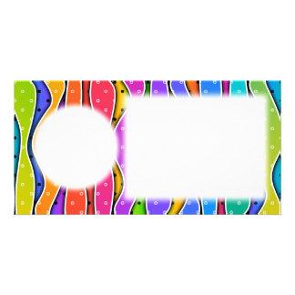 Customizable RAINBOW STRIPES PHOTO CARD