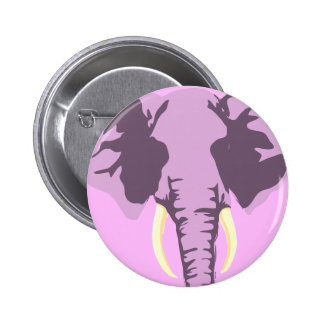 customizable realistic elephant with tusks 6 cm round badge