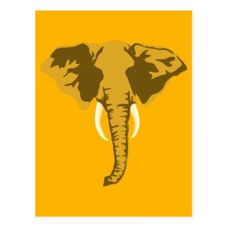 customizable realistic elephant with tusks postcard