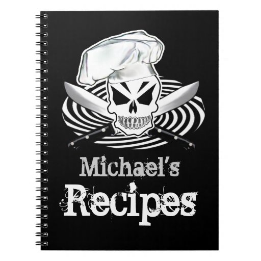 Customizable Recipe Book Spiral Note Book