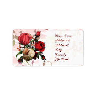 Customizable Red and Pink Roses Label