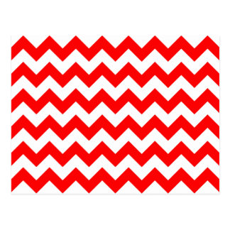 Customizable Red Chevron Pattern Postcard