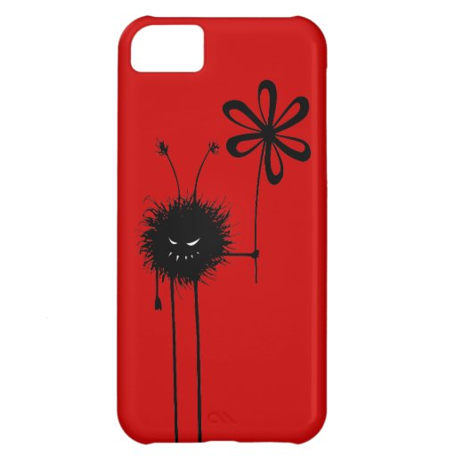 Customizable Red Evil Flower Bug iPhone 5C Case