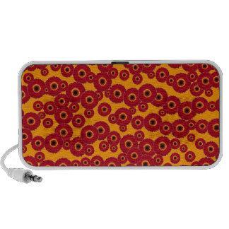 Customizable Red Gerber Daisies Laptop Speakers