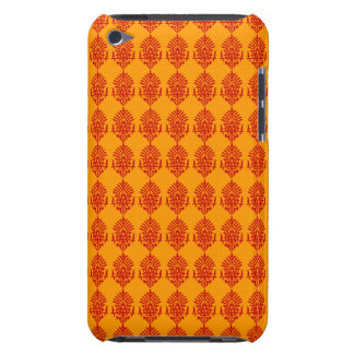 Customizable Red India Block Print Barely There iPod Cases