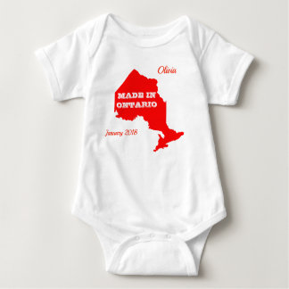 Customizable Red Made in Ontario Baby Bodysuit
