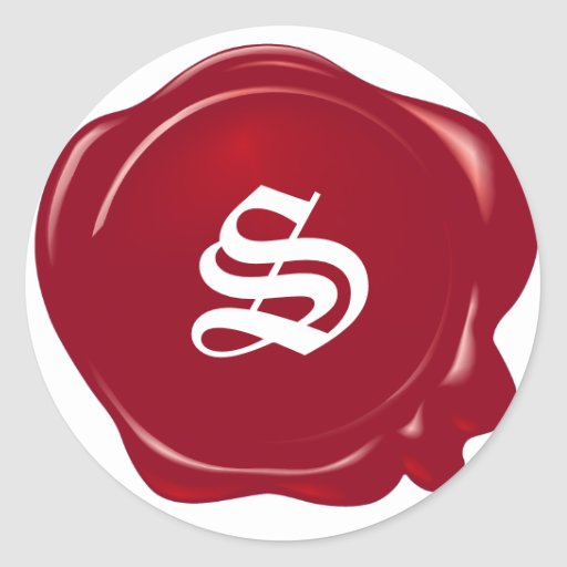 Customizable Red Wax Seal Stickers