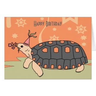 Customizable Redfoot Tortoise Birthday Card 5