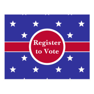 Customizable Register to Vote Postcards