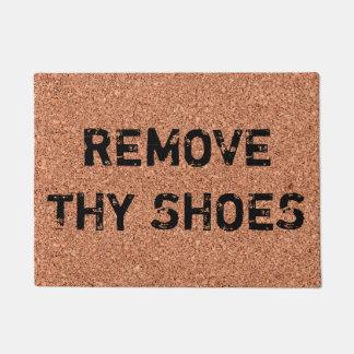 "Customizable ""Remove Thy Shoes"" Fun Cool Unique Doormat"