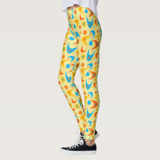 Customizable Retro Boomerangs Leggings