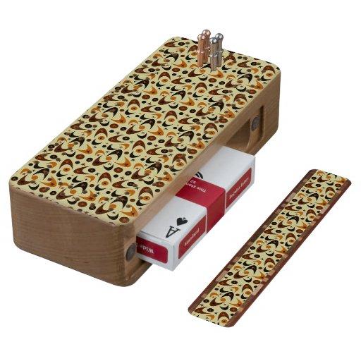 Customizable Retro Boomerangs Cherry Cribbage Board