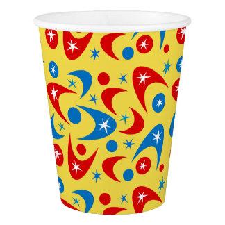 Customizable Retro Boomerangs Paper Cup