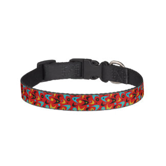 Customizable Retro Boomerangs Pet Collar