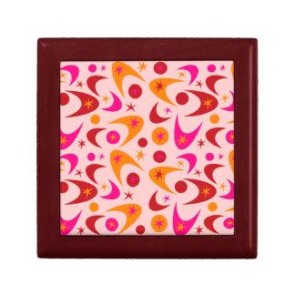 Customizable Retro Boomerangs Small Square Gift Box