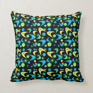 Customizable Retro Boomerangs & Starbursts Cushion