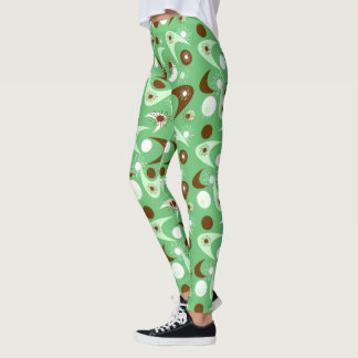 Customizable Retro Boomerangs & Starbursts Leggings