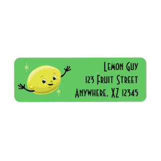 Customizable Retro Lemon Guy Return Address Label