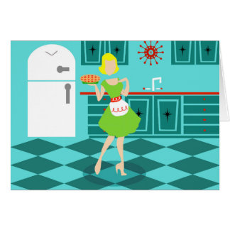 Customizable Retro Mother's Day Greeting Card