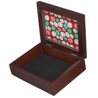 Customizable Retro Ovals Keepsake Boxes