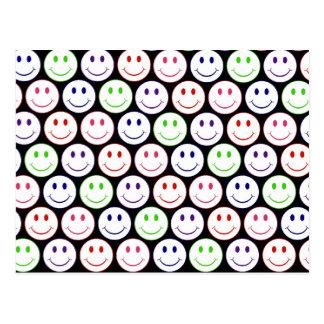 Customizable Retro Smiley Postcard