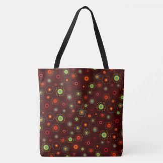 Customizable Retro Starbursts Tote Bag