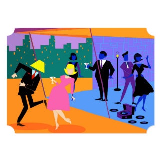Customizable Retro Urban Rooftop Party Invitation