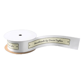 Customizable ribbon cut and sew labels satin ribbon