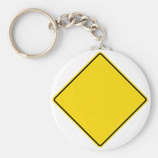 Customizable Road Sign Key Ring