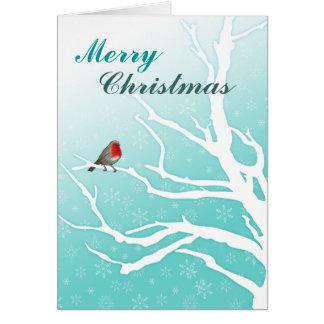 Customizable: Robin in a tree Greeting Card