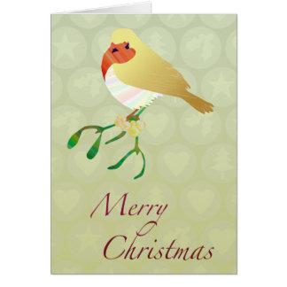 Customizable: Robin kiss Greeting Card