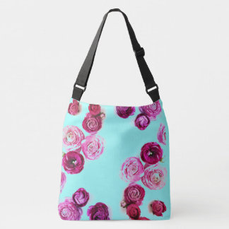 customizable rosebud over the shoulder tote