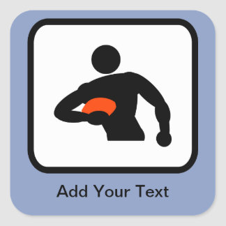 Customizable Rugby Player Logo Sticker