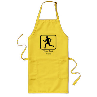 Customizable Runner Logo Long Apron