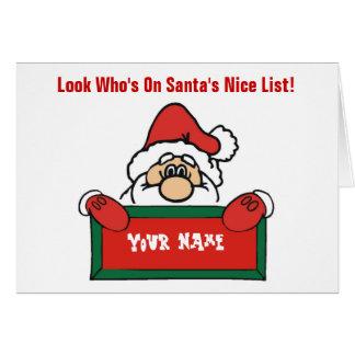 Customizable Santa's Nice List Card