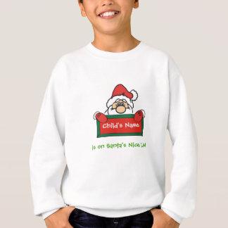 Customizable Santa's Nice List Sweatshirt for Kids