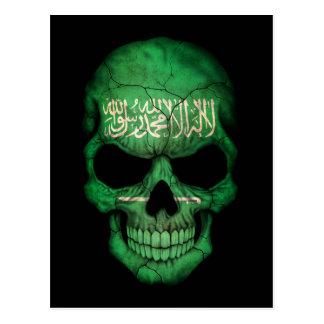 Customizable Saudi Arabian Flag Skull Postcard