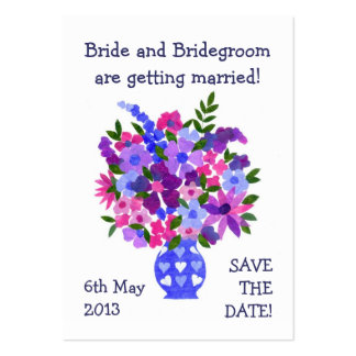 Customizable Save the Date Card, Bouquet Pack Of Chubby Business Cards