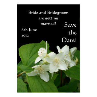 Customizable Save the Date Card, Mock Orange Pack Of Chubby Business Cards