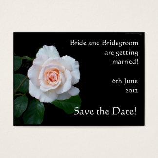 Customizable Save the Date Card, Pink Rosebud