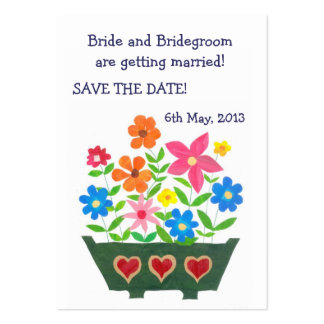 Customizable Save the Date Card, Windowbox Pack Of Chubby Business Cards