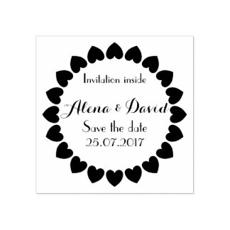 Customizable Save the date, rubber stamp. Rubber Stamp